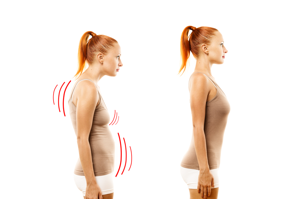 Right and healthy bosy posture